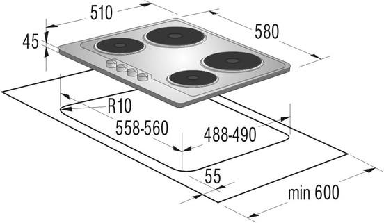 PDF, 1,19 МБ).  Инструкция по эксплуатации: Независимая электрическая варочная панель Gorenje E6N1BXE 6 N1BX.